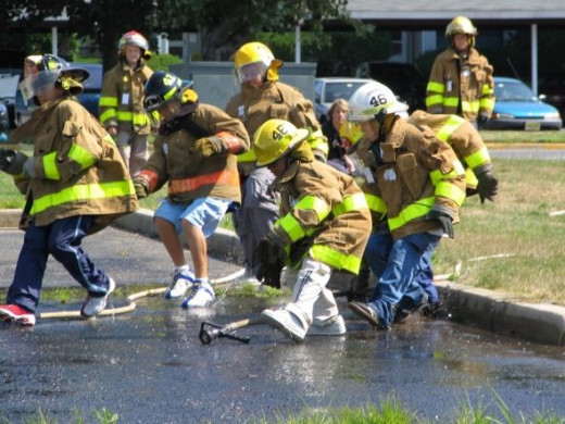 Fire Safety and Education has a different meaning to young teenagers and we catch the chance to teach them about fire safety responsibility and make them part of the team by involving them in activities that keep them motivated and excited. They take