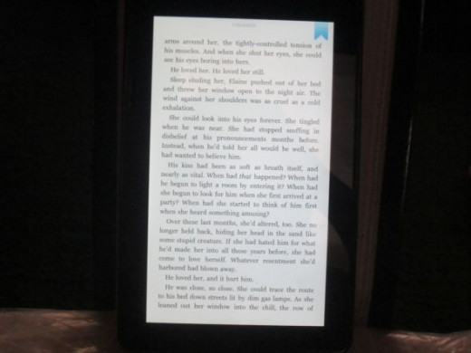 Kindle Fire Page In A Book