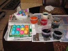 Easter Eggs and egg dyes