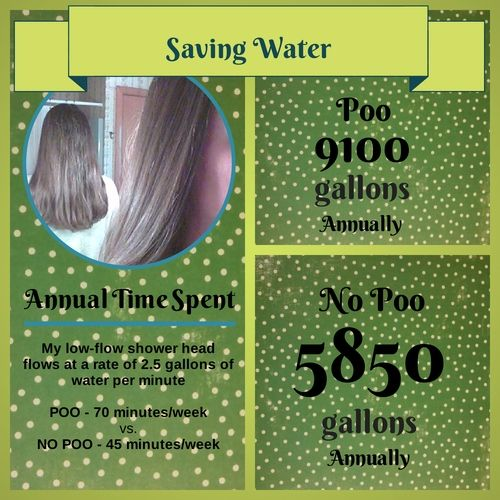 Saving Water with No-Poo Hair Care