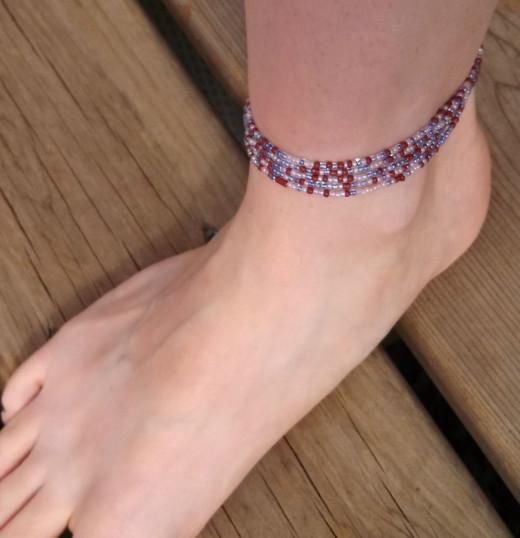4-5 loops: Anklet