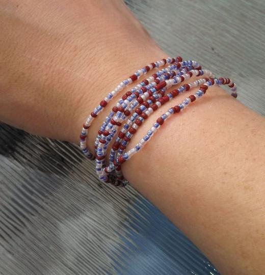 6-7 loops: Bracelet 10-15 loops: Hair tie