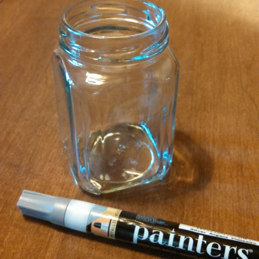 Thoroughly wash out a jelly jar (or other upcycled container of your choice).