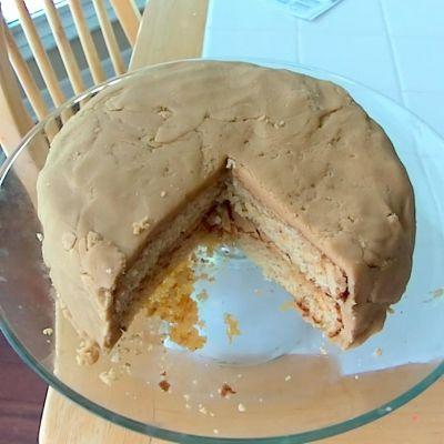 My husband's 2013 peanut butter birthday cake