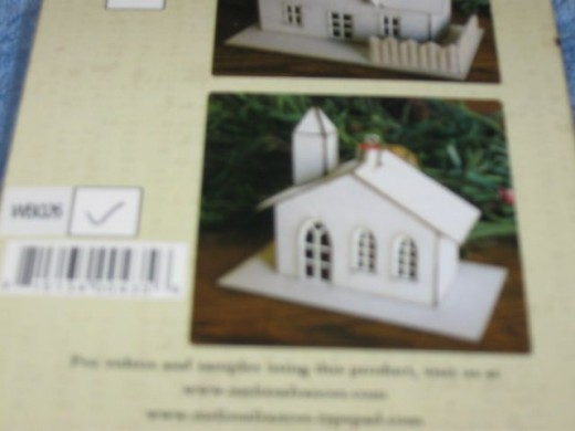 Ornament house by Melissa Frances - unassembled craft kit.