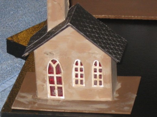 Tiny Town Church from a craft kit
