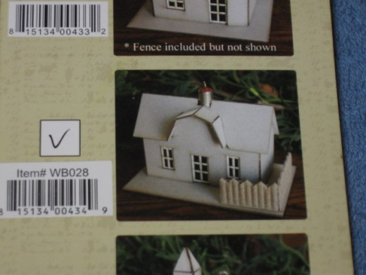 The Melissa Frances house ornament kit.