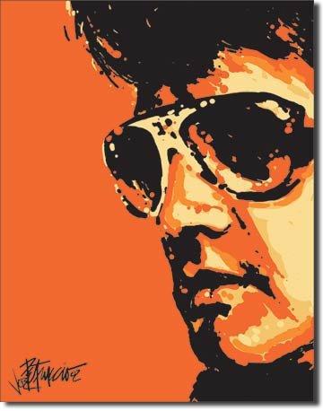 """Elvis - Tigerman Tin Sign 12.5""""W x 16""""H , 13x16"""
