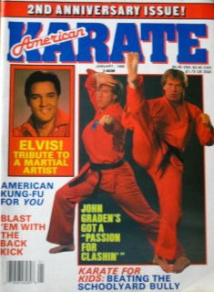 January 1988 American Karate Magazine Elvis Presley John Graden Cover