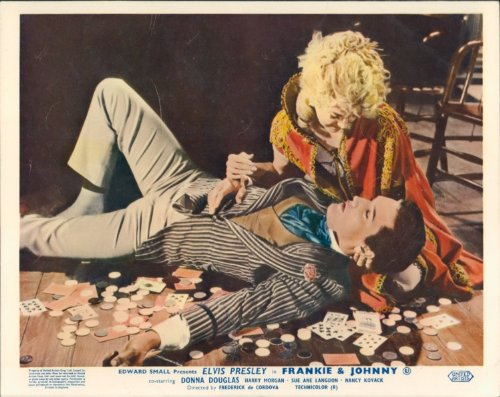 ELVIS PRESLEY DONNA DOUGLAS FRANKIE AND JOHNNY LOBBY CARD ORIGINAL