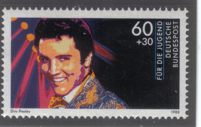 Elvis on a German stamp