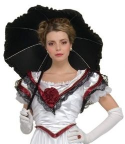 Costume Accessories Gothic Black Umbrella Geisha Southern Belle Parasol Accessory