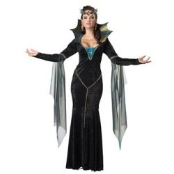 California Costumes Sexy Womens Evil Sorceress Dark Gothic Queen Halloween Costume by California Costumes