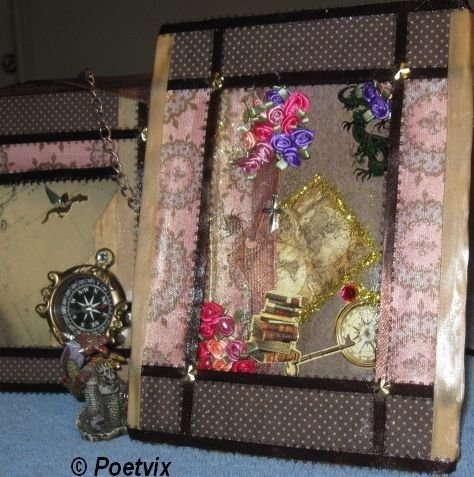 Decoupage frame with temporary tattoos