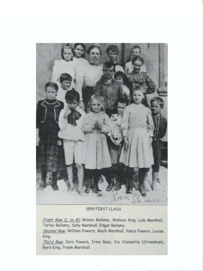 Ivy Cromartie Stranahan is shown here posing with her first class of children, in 1899 - this was before her marriage.