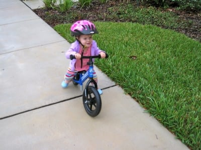 One of my daughter's favorite things to do at 22 months was ride her balance bike