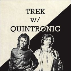 a combined image of both vinyl albums used as the CD cover for the re-release of both Trek with Quintronic albums by Anna Logue Records out of Germany in 2012