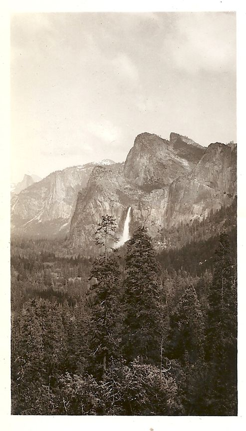 Yosemite National Park at Glacier Point, 1940. It hasn't changed much.