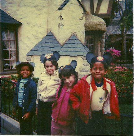 My girls and stepchildren at Disneyland, 1985.