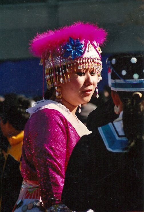 Every year the Hmong New Year's celebration brings lovely authentic costumes.