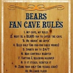 10 Must Haves for a Chicago Bears Man Cave