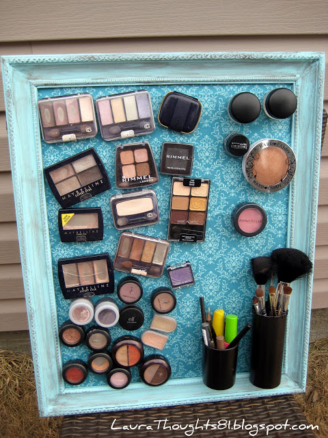 Laura Thought's Magnetic Make-up Board