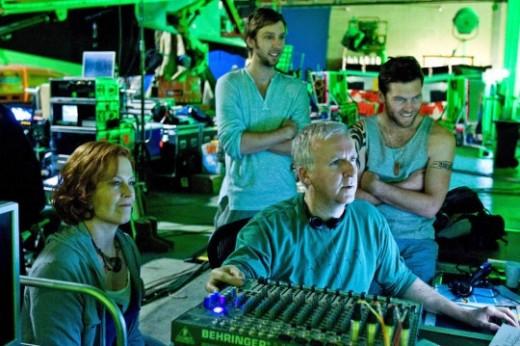 James Cameron on the Avatar Set