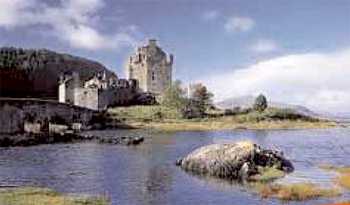 Photo: Scotts castle by Loch Ness, yes, THE Loch Ness with the reported monster. Taken by Daniel Scott, Sr.