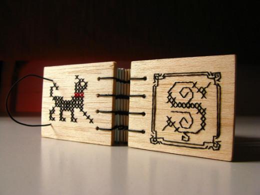 Fabulous wood bound books.