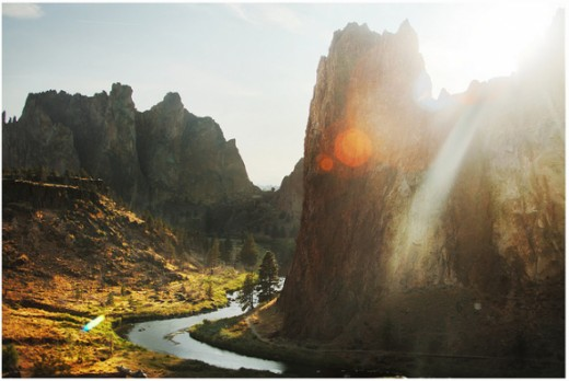 Smith Rock in Oregon State Park.
