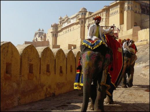 Amber Fort, Jaipur, India.