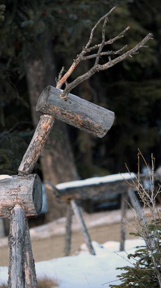 One project idea would be to construct log and branch animals outdoors - a fun reindeer sculpture would look great in any garden.