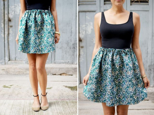 You don't always need a sewing machine to make a skirt :)
