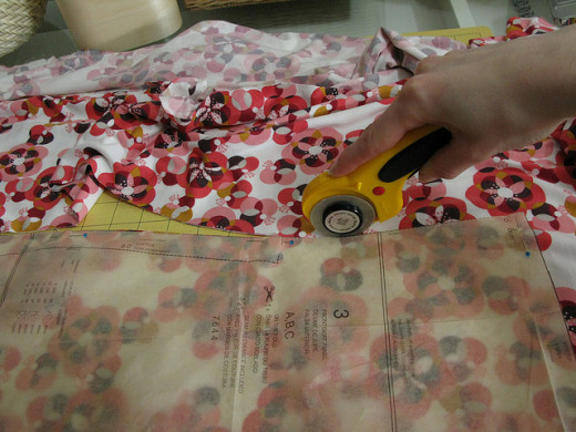 Using the very useful rotary cutter tool.