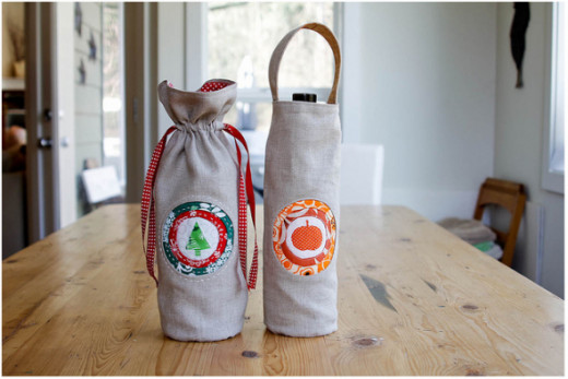If you have some sewing skills, homemade bags add a very special touch to your presents.