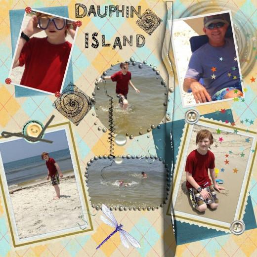 My Dauphin Island DigiScrap Page