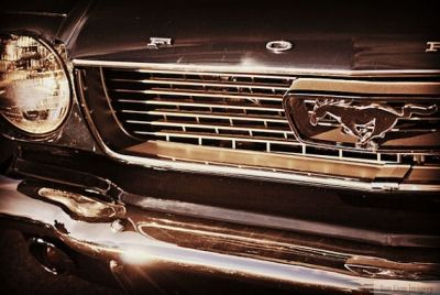 Classic Mustang Kickin' Grill in Black!