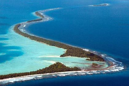 Narrow Islands of Tuvalu