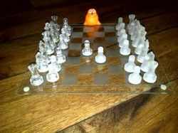 Glass Chess Toy Play
