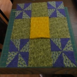 Nine patch quilt blocks disappearing acts