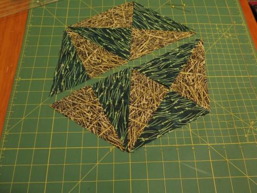 sew the 2 halves together