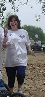 Esther at fundraising walk