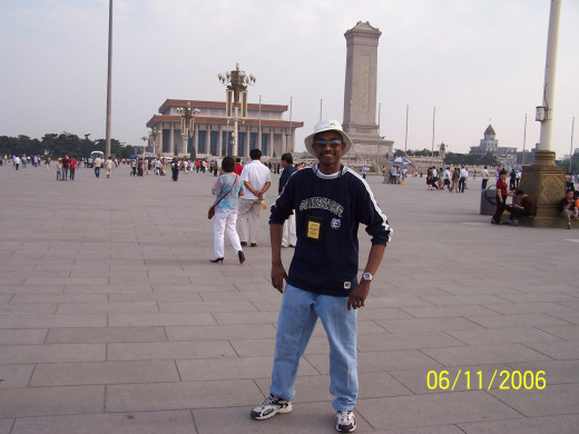 Me Standing in the middle of Tienanmen Square