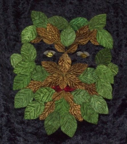 The Green Man.   Wall hanging by Snakesmum