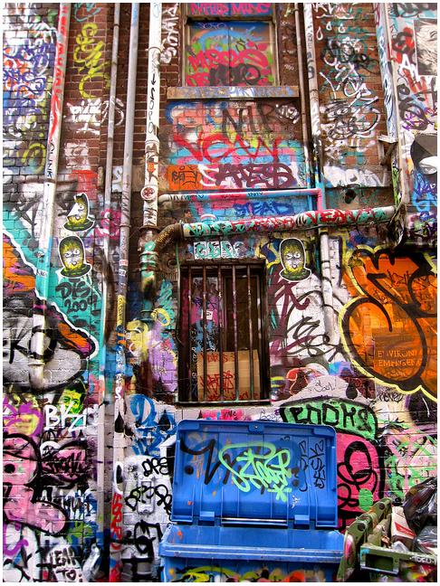 I love the colours of this wall in Rutledge Lane, Melbourne, Australia.