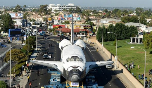 Shuttle stop at Inglewood