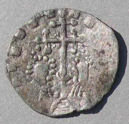 "One of the first Russian Coins.  From Tmutarakan Princedom on the Taman peninsula in Russia  - one of only three ""Rus"" regions to issue coins before the Mongols took over. Very rare, Basil II and Constantine VIII (976-1025)"