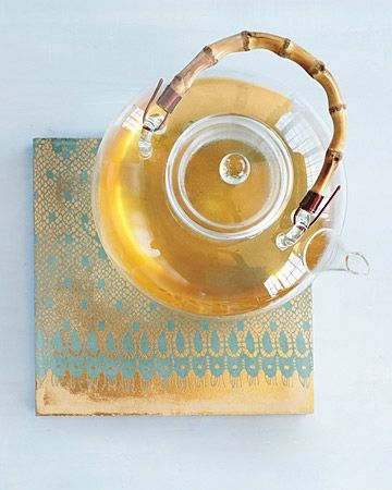 Lace tile from MarthaStewart.com. See link for directions below.