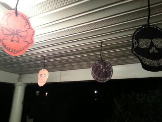 My porch--YEAH--take that neighbors!