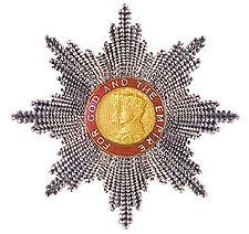 Grand Cross's star of the Order of the British Empire